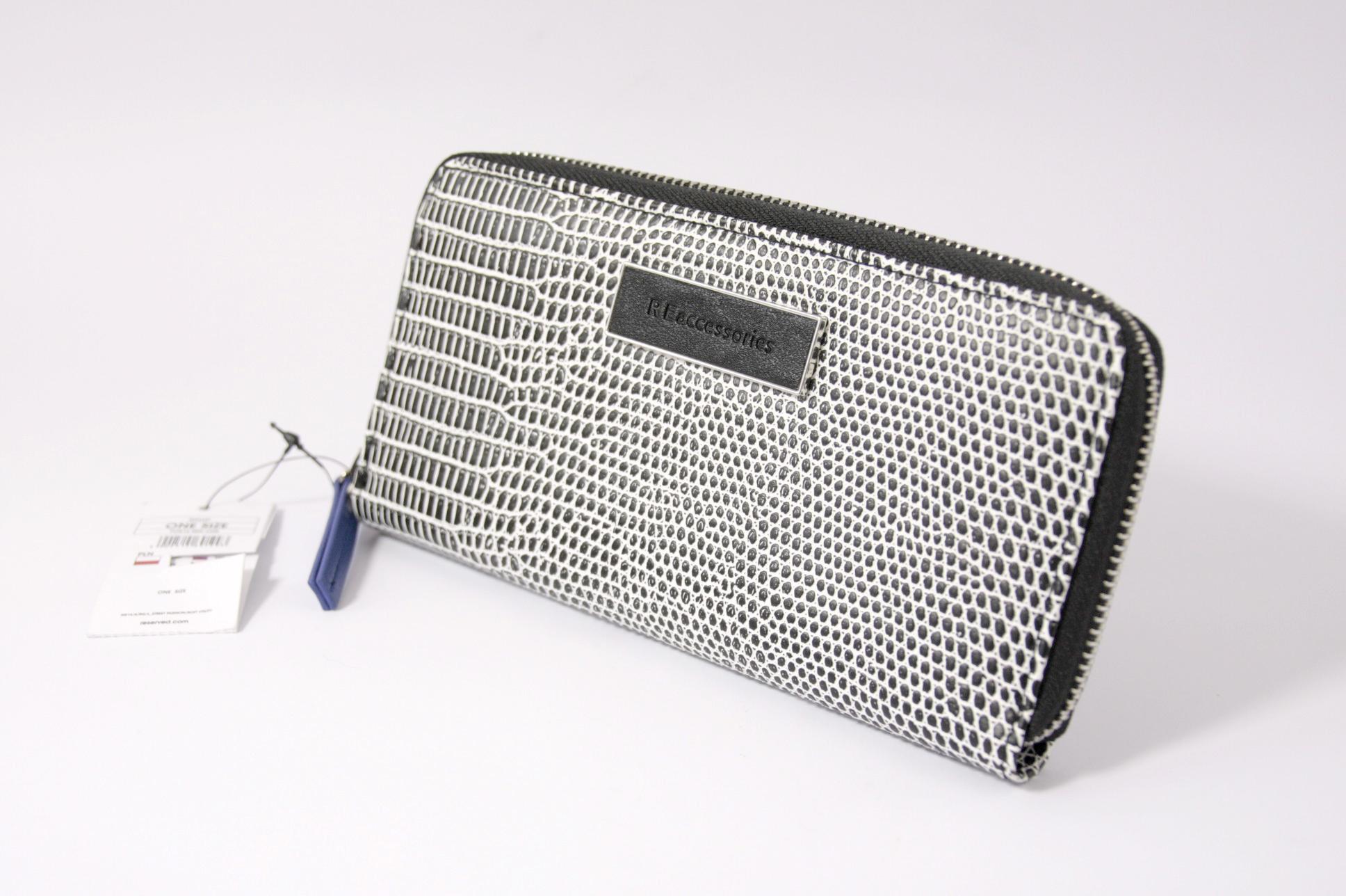5317a07250cab Portfel RESERVED RE accessories NOWY czarny biały - 7239215910 ...