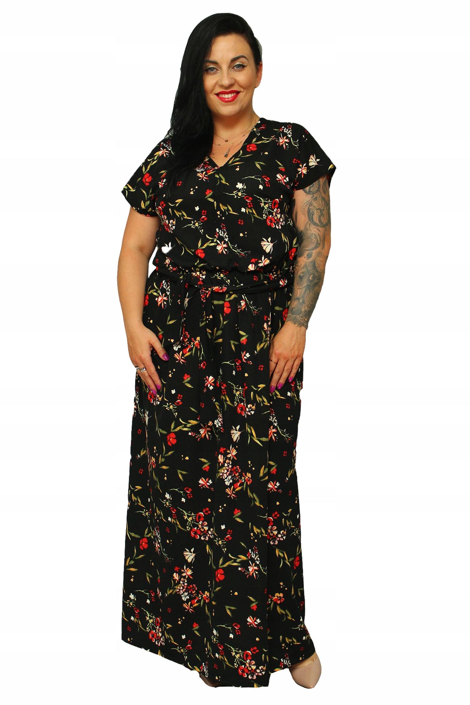 479106a38c Sukienka ZOE letnia long gumka łączka 44 - 7398475331 - oficjalne ...
