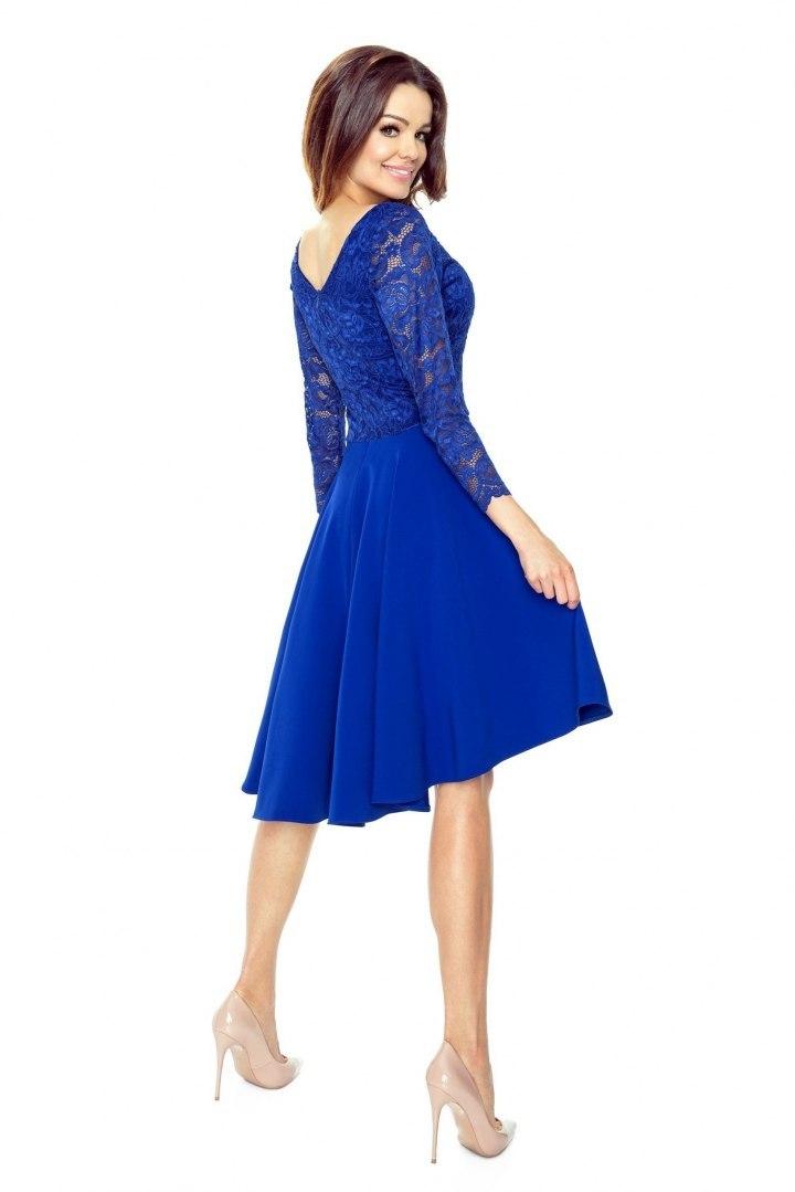 0205002642 48-05 CATERINA - sukienka z koronkową górą (chaber - 7434564373 ...