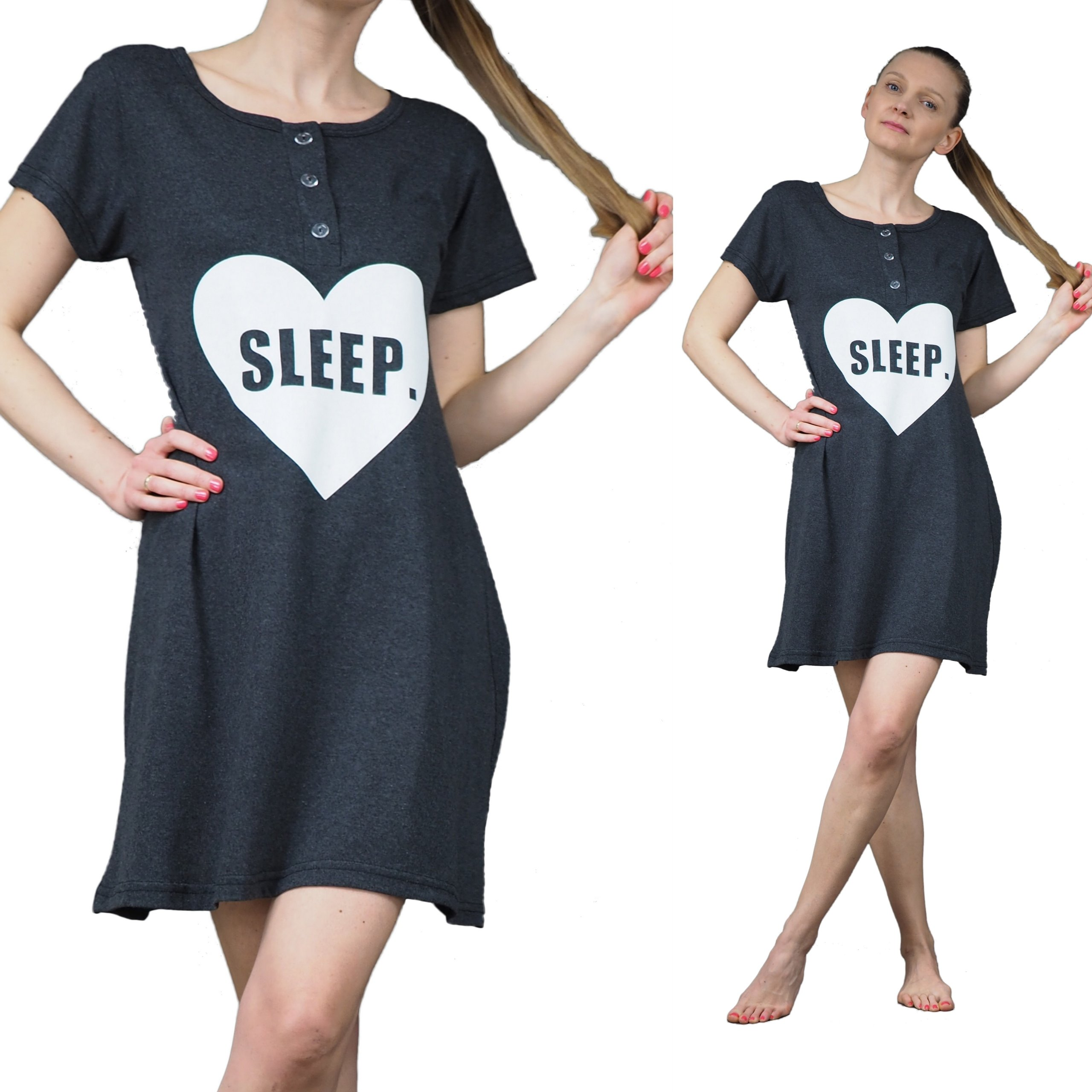 3fcb73dd6492cb KOSZULA NOCNA XL 42 piżama do szpitala s-2xl KOLOR - 6860781383 ...