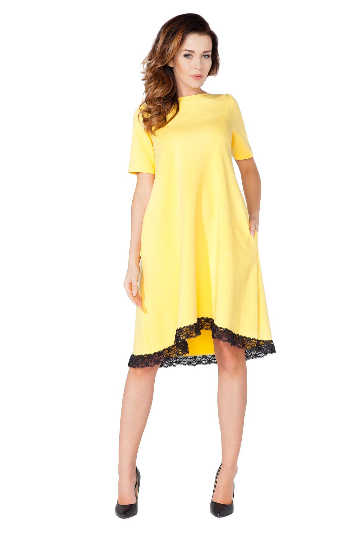 8e1e8d7c45 TESSITA Sukienka trapezowa z koronką S (36) - 7350206832 - oficjalne ...