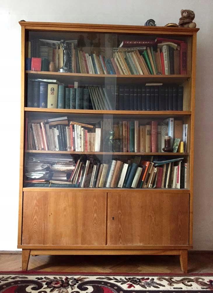 Komoda Biblioteczka Lata 60 70 Prl Kredens Drewno 7516543565