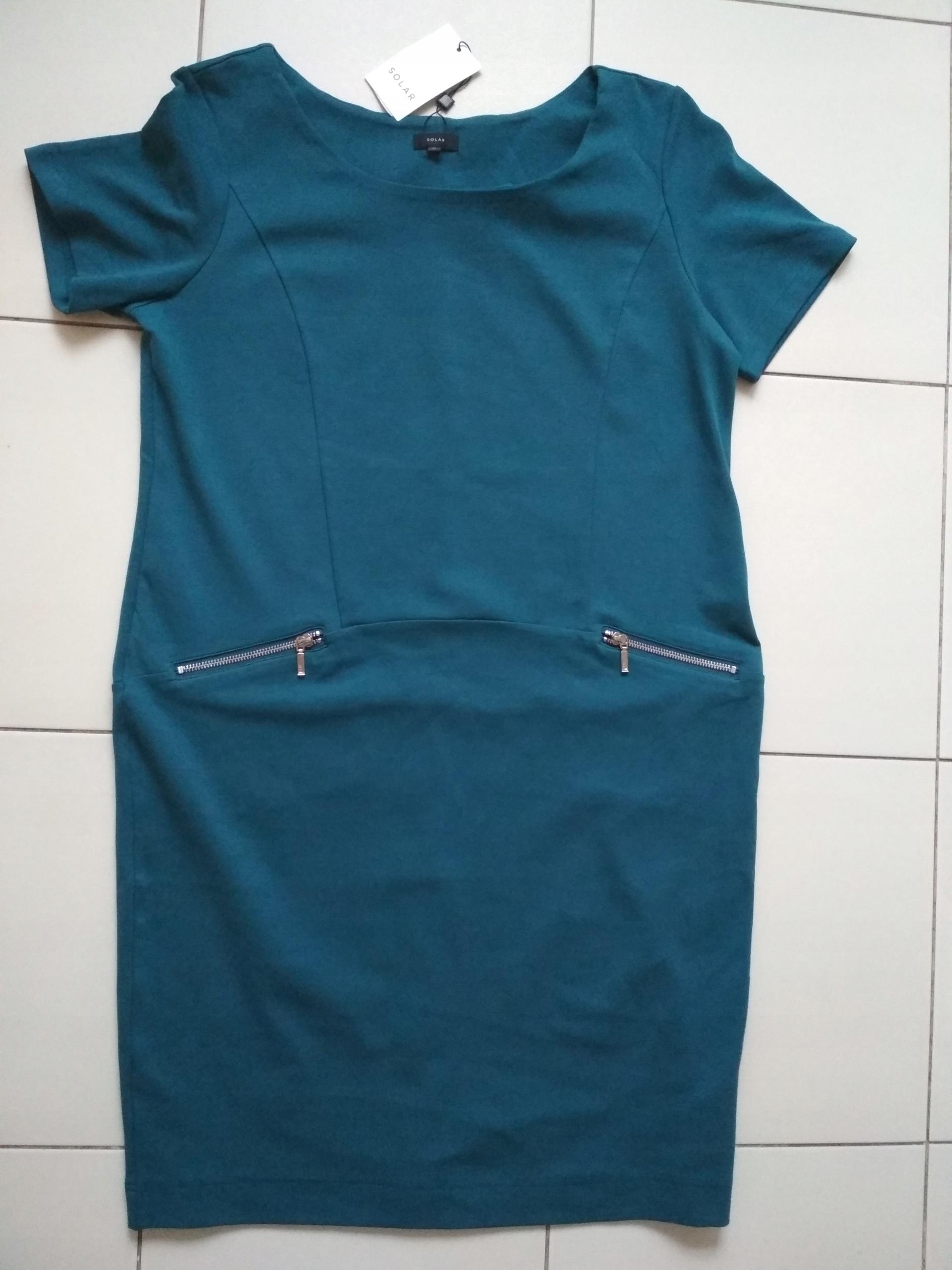 64e6a211df SOLAR sukienka turkusowa 42 - 7690324555 - oficjalne archiwum allegro