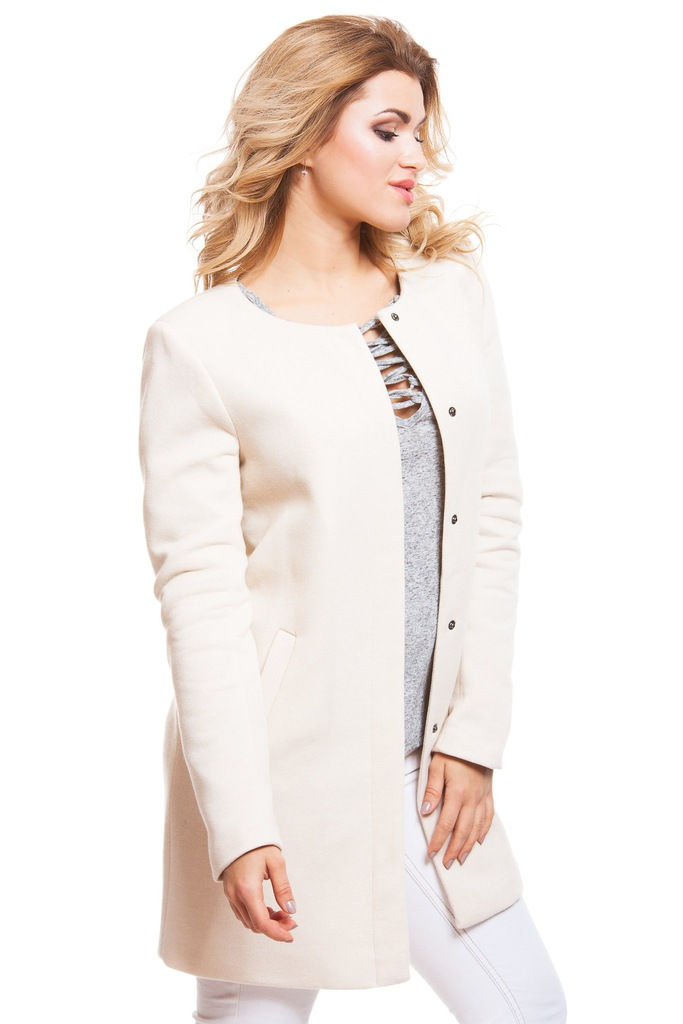 Płaszcz ONLY onlSIDNEY LIGHT MELANGE COAT CC OTW 15127882 kremowy L