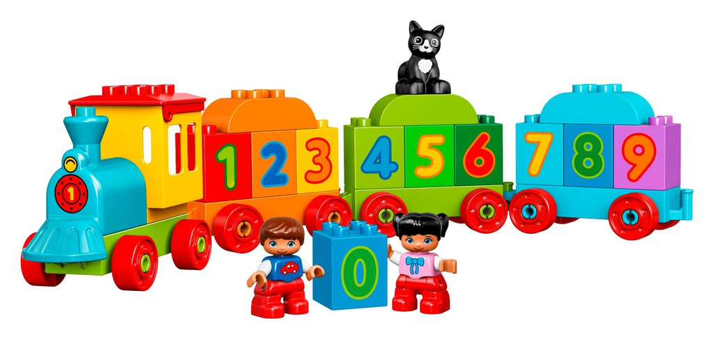 Klocki LEGO DUPLO Pociąg z cyferkami 10847
