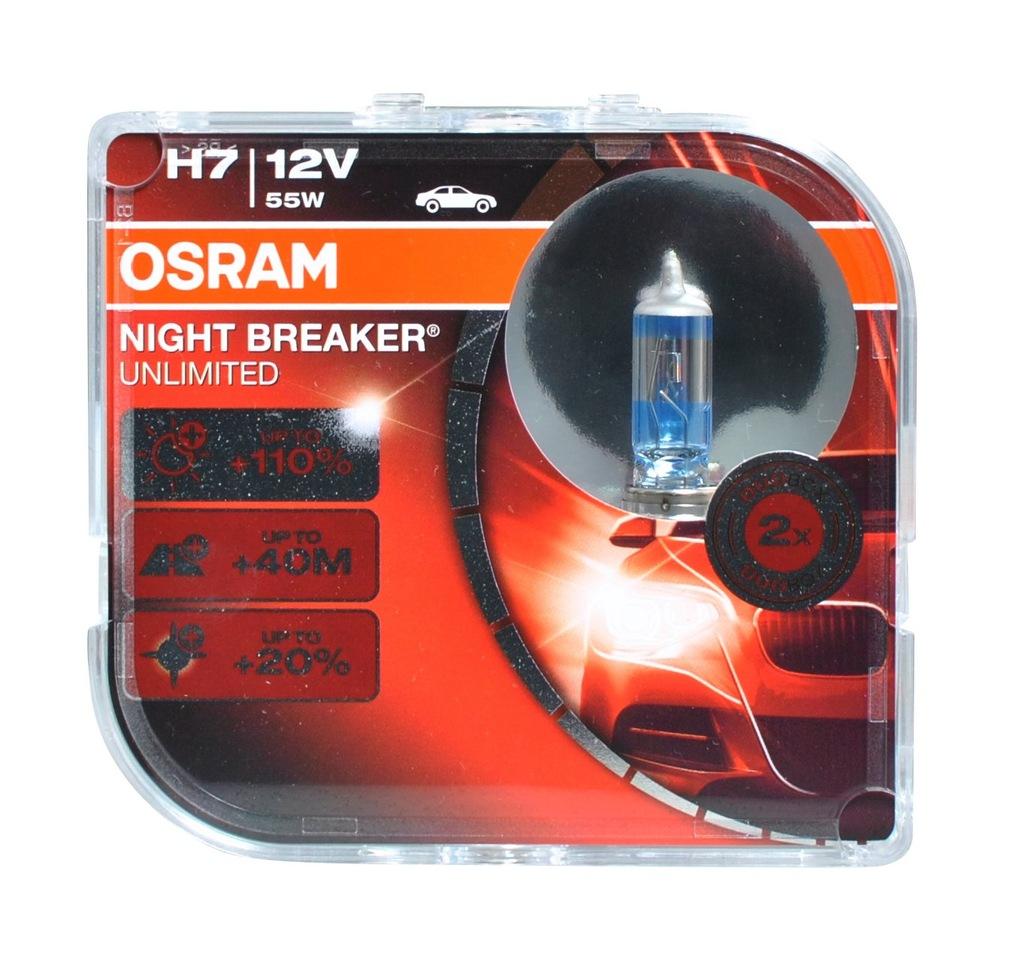 Żarówka halogenowa Osram Night Breaker Unlimited H7