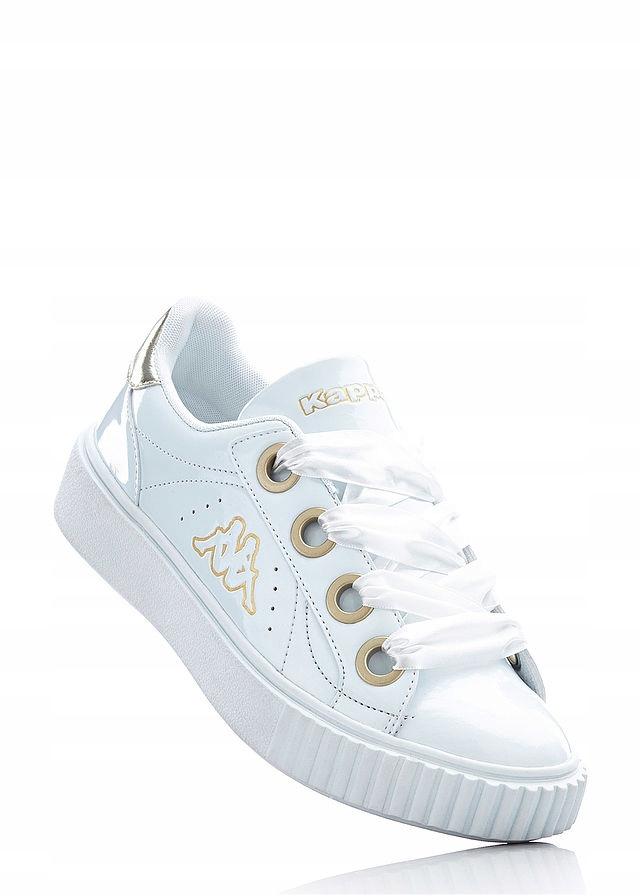 Sneakersy Kappa 40 sznurówki z wstążki lakierowane