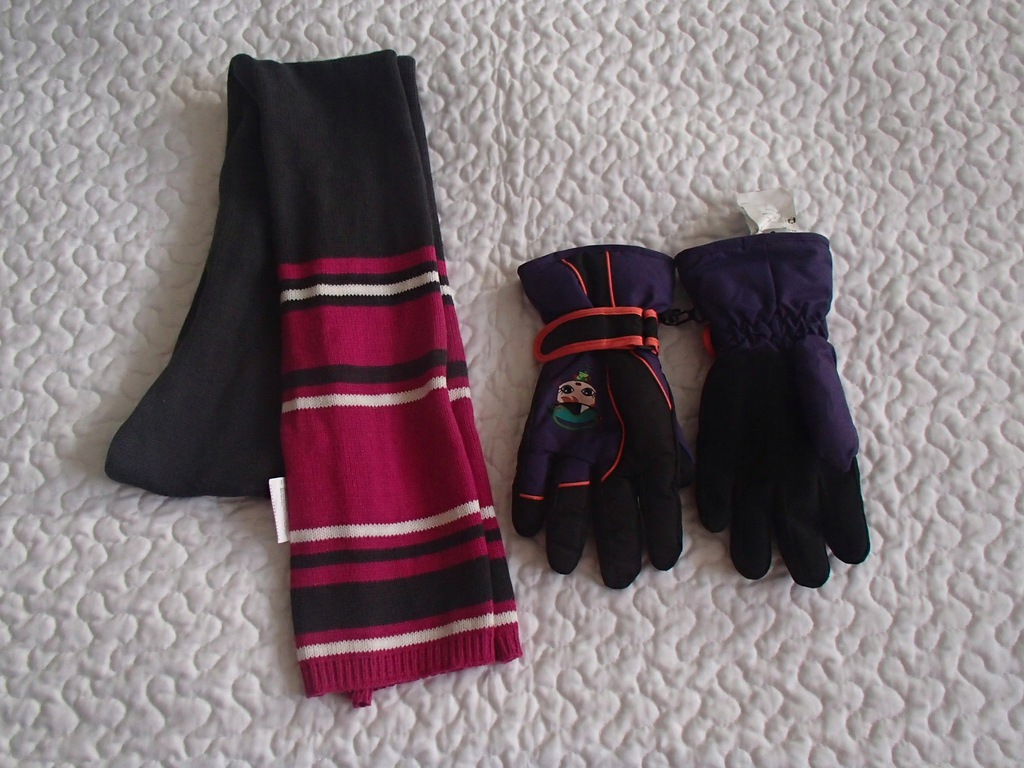 Coccodrillo rękawiczki i szalik roz 116