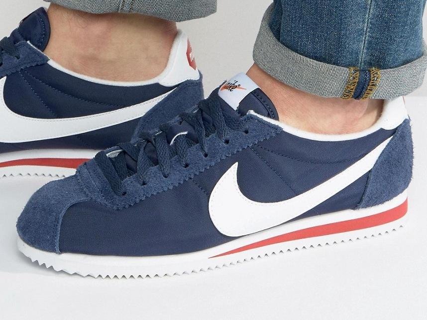 Nike Cortez Nylon Premium 876873 400 Niebieskie 42