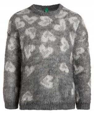 Sweter Benetton moher włochaty rozm.120, nowy 122