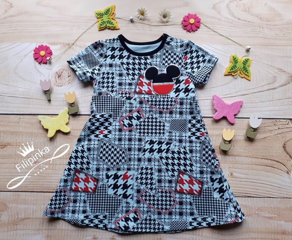 Sukienka Z Krotkim Rekawem Rozm 122 7278127463 Oficjalne Archiwum Allegro