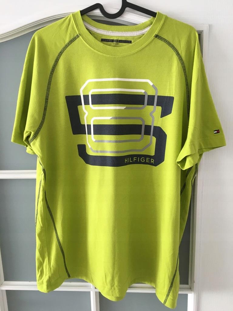 T-Shirt Tommy Hilfiger Sport, żółta, BCM !