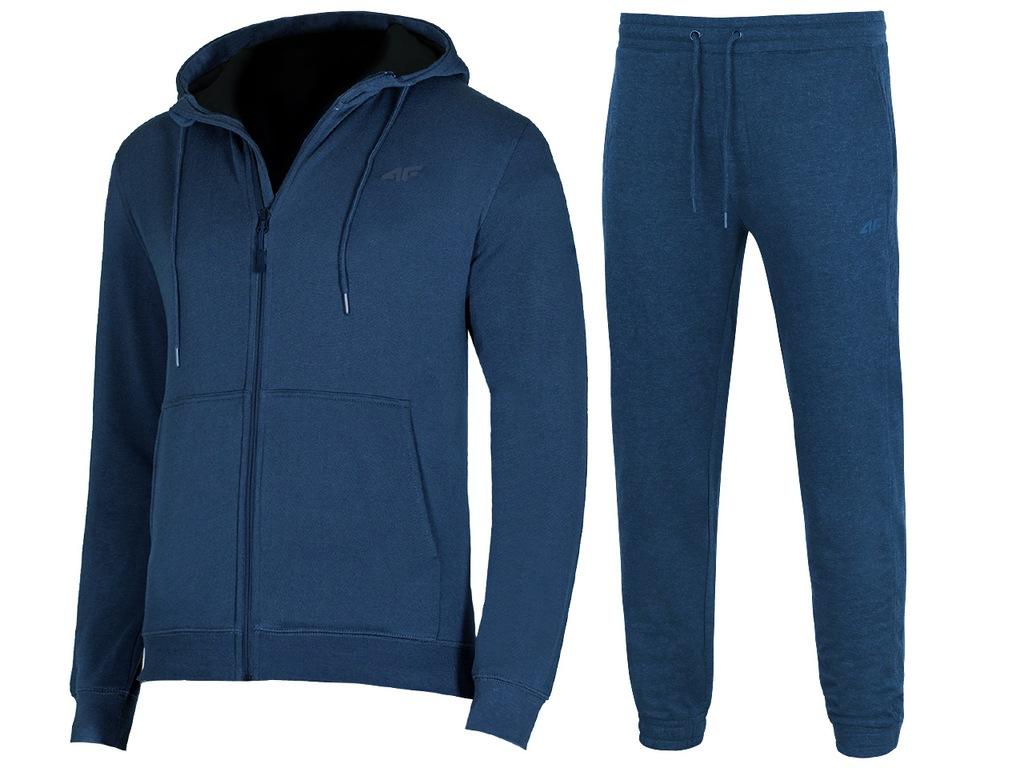 4F MĘSKIE Bluza Spodnie DRESY KOMPLET M
