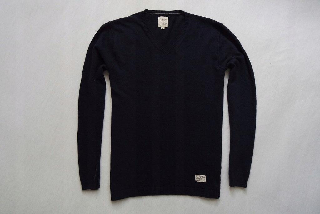COTTONFIELD sweter sweterek granatowy 80% WEŁNA__M