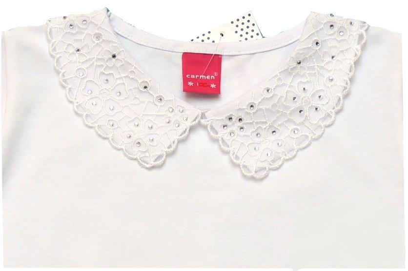 bluzka bluzeczka BIAŁA kołnierzyk Carmen 134 7558501521