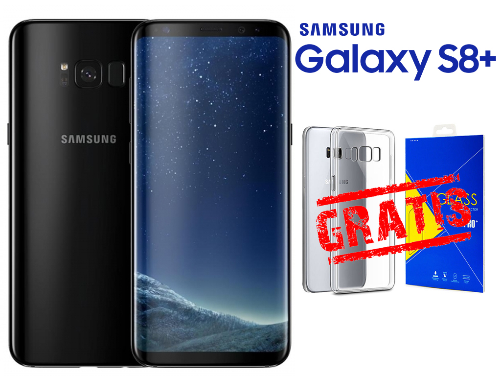 SAMSUNG GALAXY S8+ PLUS Midnight Black +ETUI FV PL