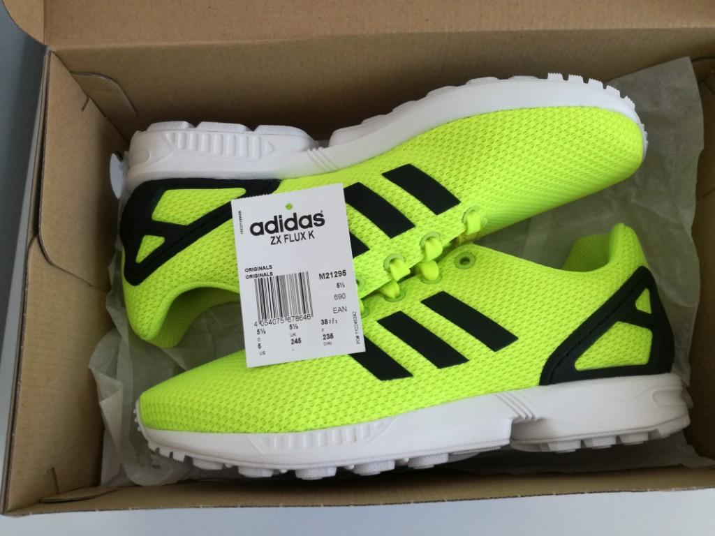 Nowe żółte neonowe buty Adidas zx Flux K 38,5