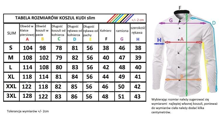 Koszula Męska slim wzór_M_megakoszula 7384752216
