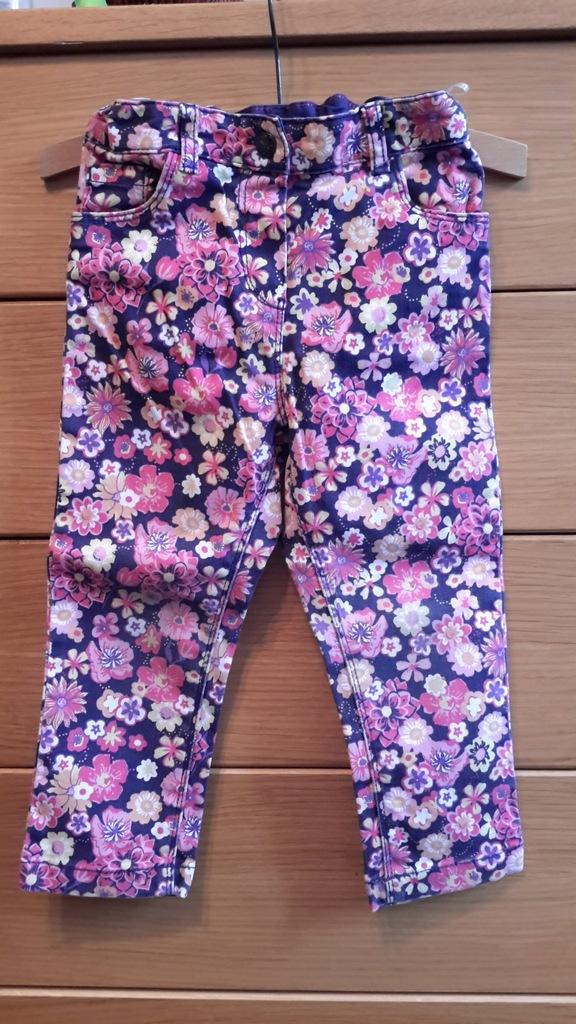 C&A Palomino Kolorowe jeansy w kwiaty r.92