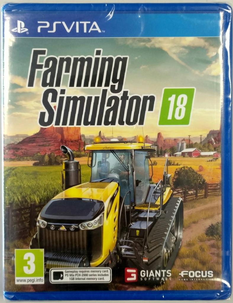 FARMING SIMULATOR 18 / GRA PS VITA / PL / NOWA
