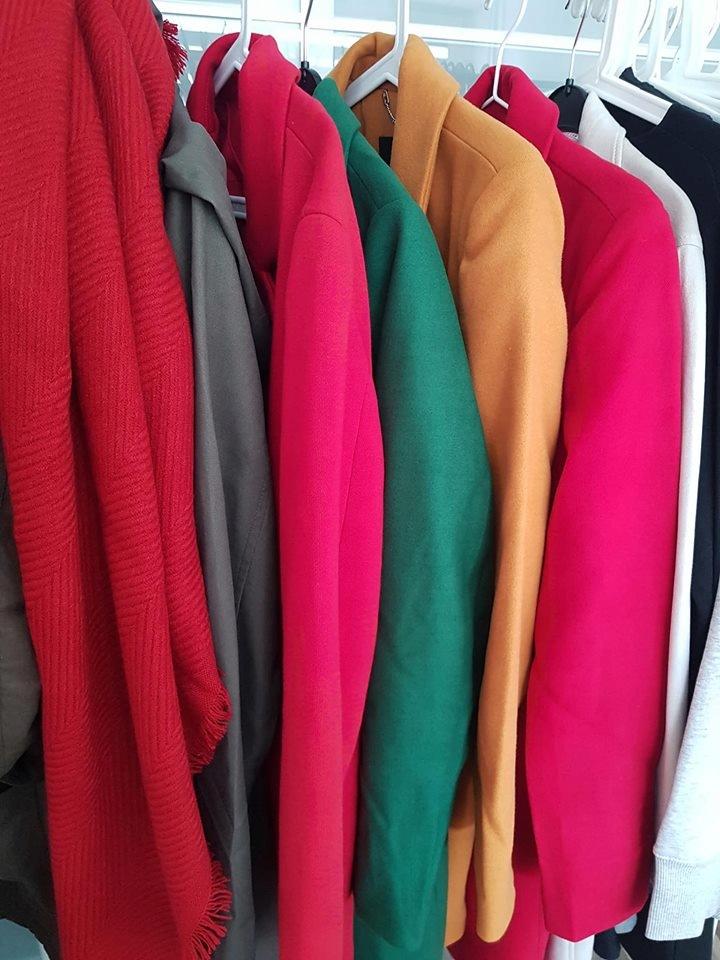 Zielony klasyczny wyjątkowy płaszcz New Look L