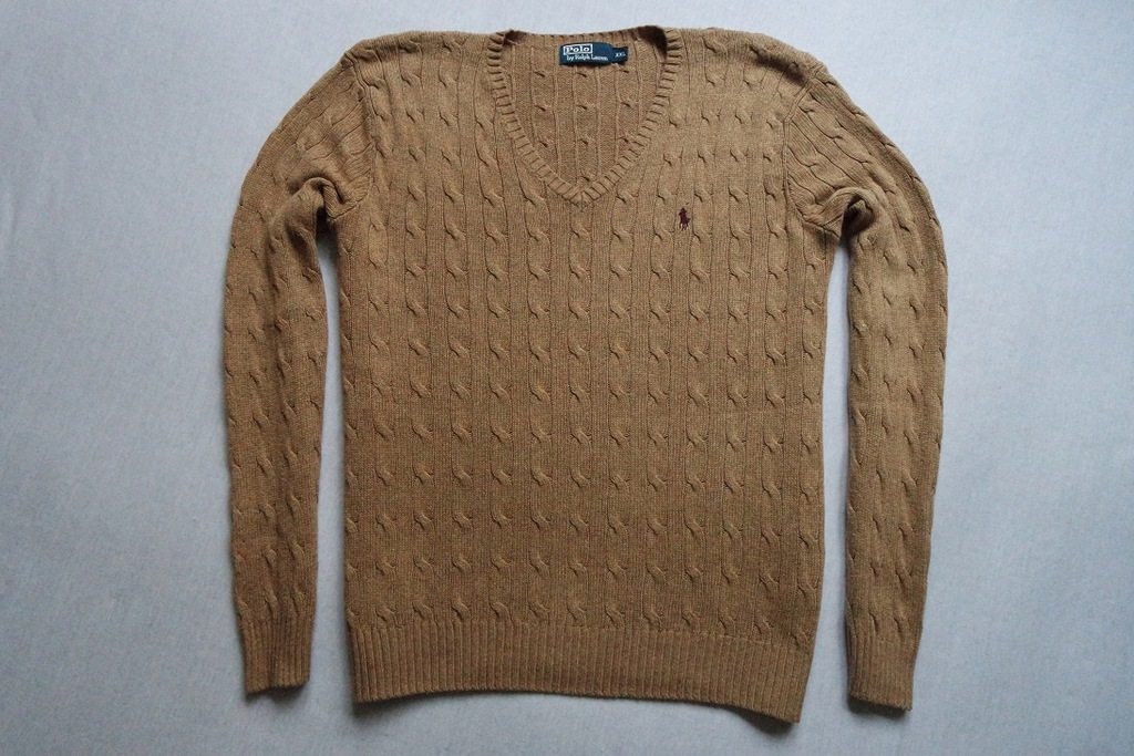 RALPH LAUREN sweter sweterek 100% JEDWAB SILK__XXL