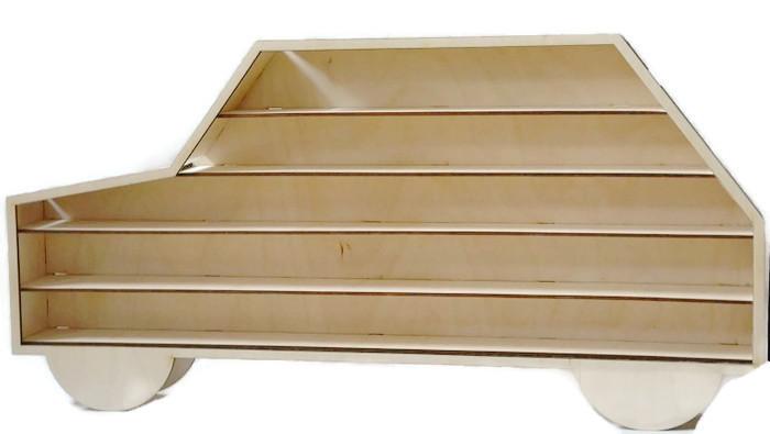Półka autko, na resoraki, drobiazgi,drewniana