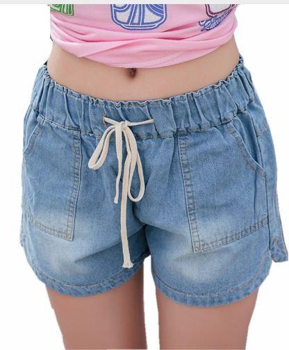 Spodenki Damskie Jeans Dzinsowe Gumka W Pasie S 7339231135 Oficjalne Archiwum Allegro