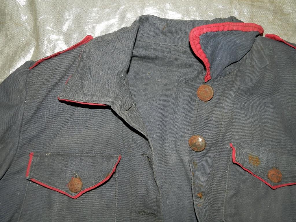 Stara bluza strażacka oraz furażerka Galeria zdjęć i