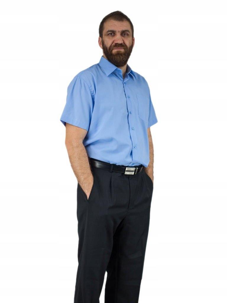 3839 Koszula męska NIEBIESKA krótki rękaw kolory  o0rKE