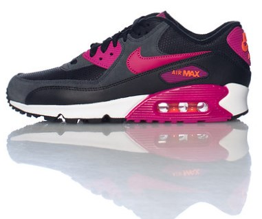 Buty Nike Damskie Nike Air Max 90 Skórzany RóżowyBiały