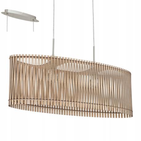 Lampa wisząca Eglo Sendero 96194 drewniana zwis