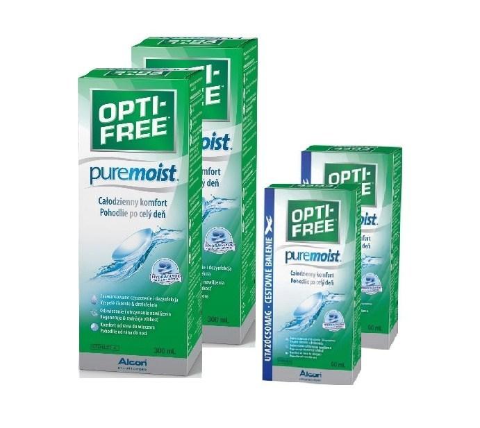 2 x OPTI-FREE PureMoist 300ml + 2 x  90ml