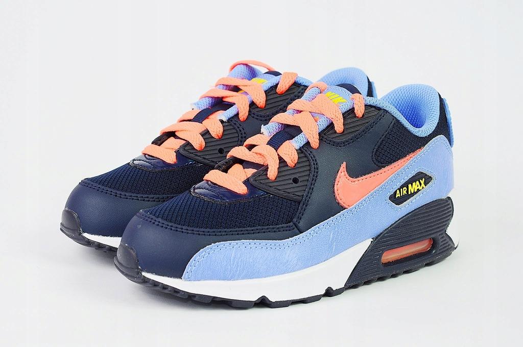 Buty Nike Air Max 90 Mesh (ps) niebieskie 724856 408