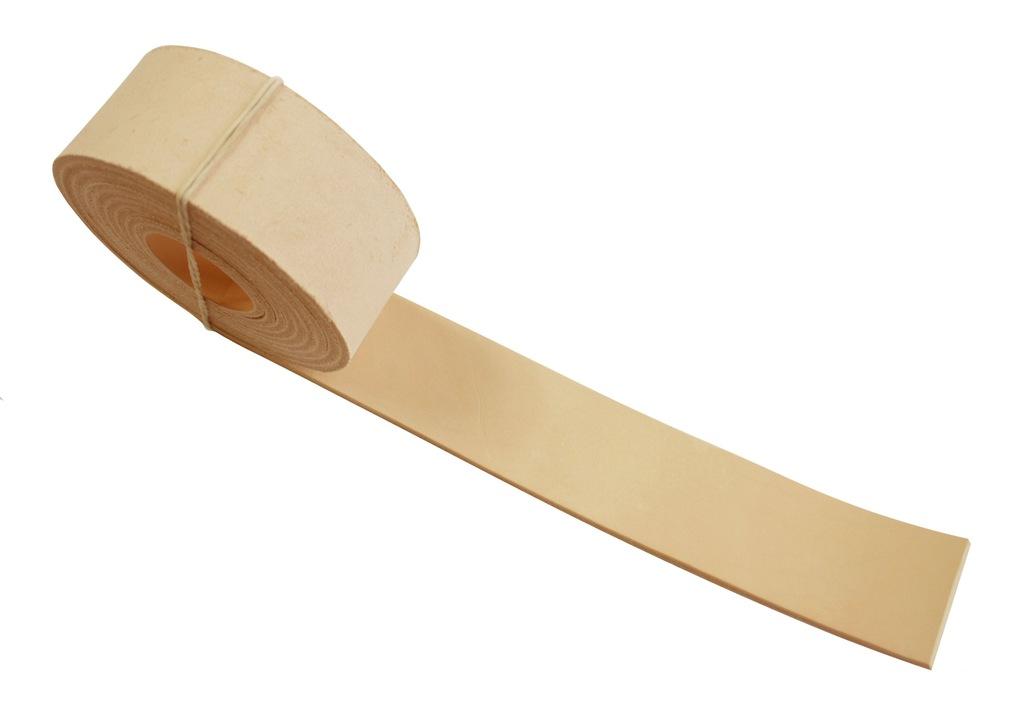 Pasek skórzany do torebki 35 mm 50 cm - naturalny