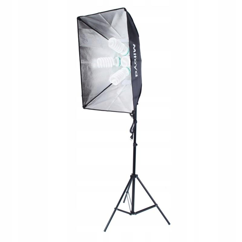 LAMPA ŚWIATŁA CIĄGŁEGO + SOFTBOX 50x70 + 4 x 400W