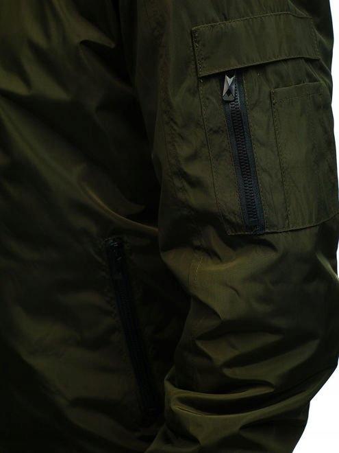 kurtka męska przejściowa bomberka zielona denley rz02