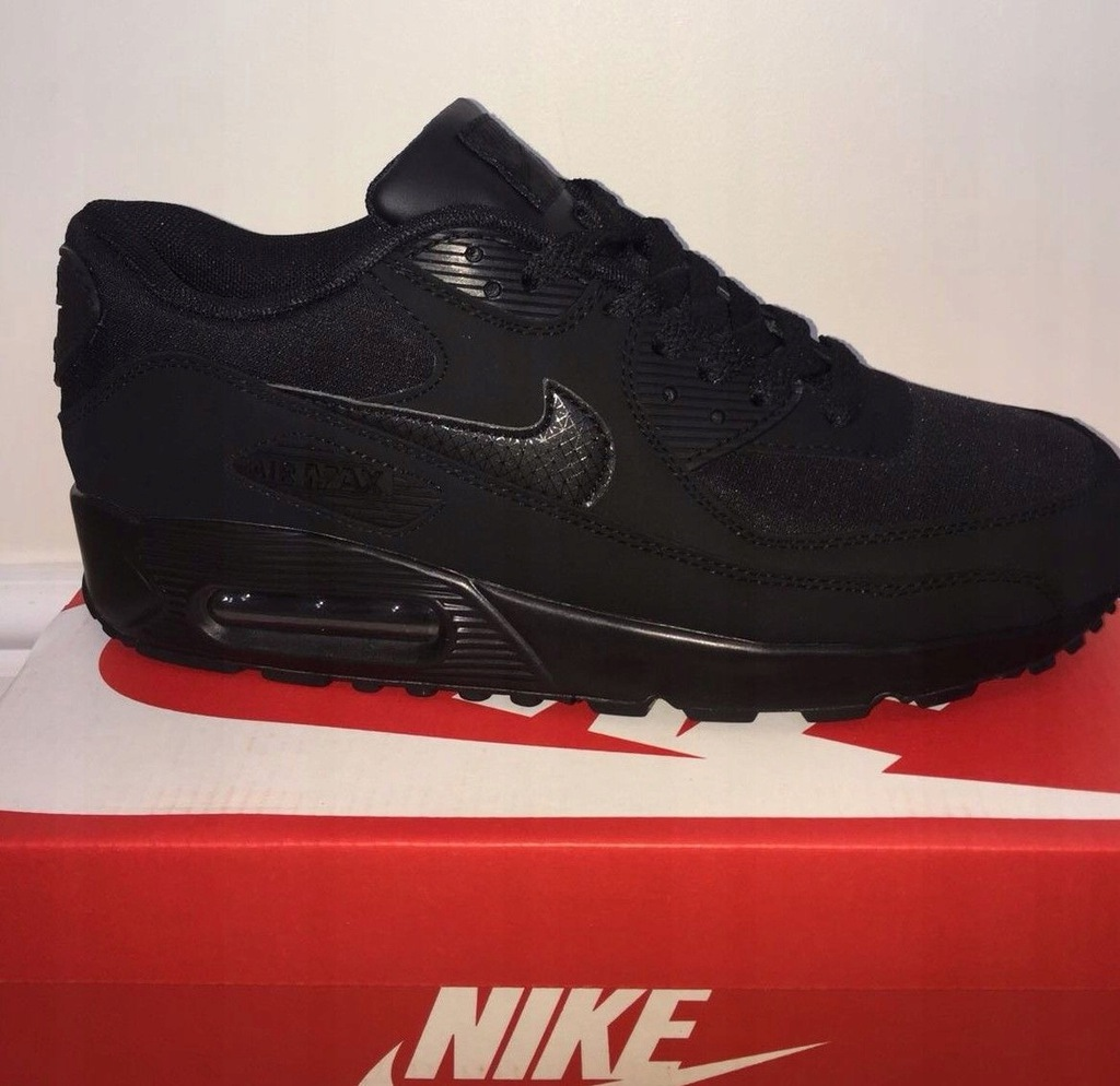 Nowe Buty Nike Air Max 90 Black Rozmiary Outlet 7500272287