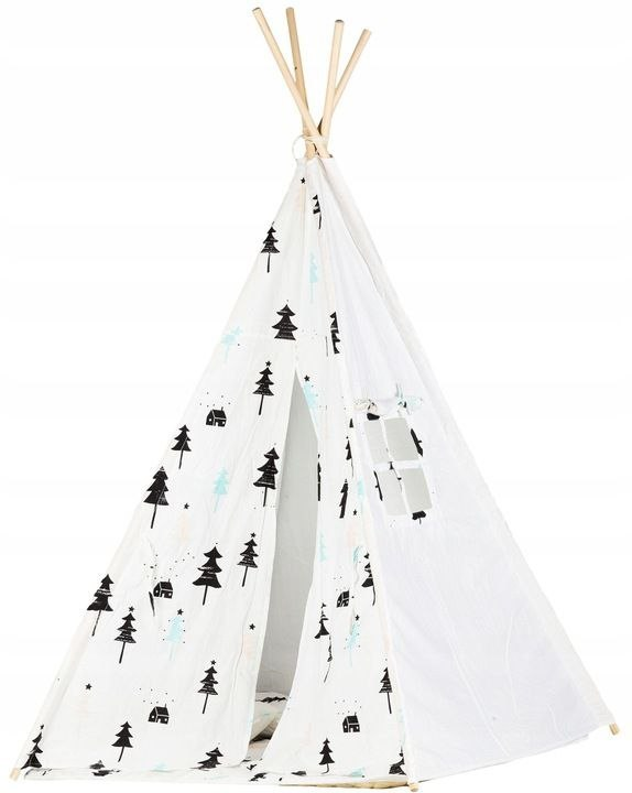 Ecotoys, namiot dla dzieci Tipi Wigwam, biały Ecotoys
