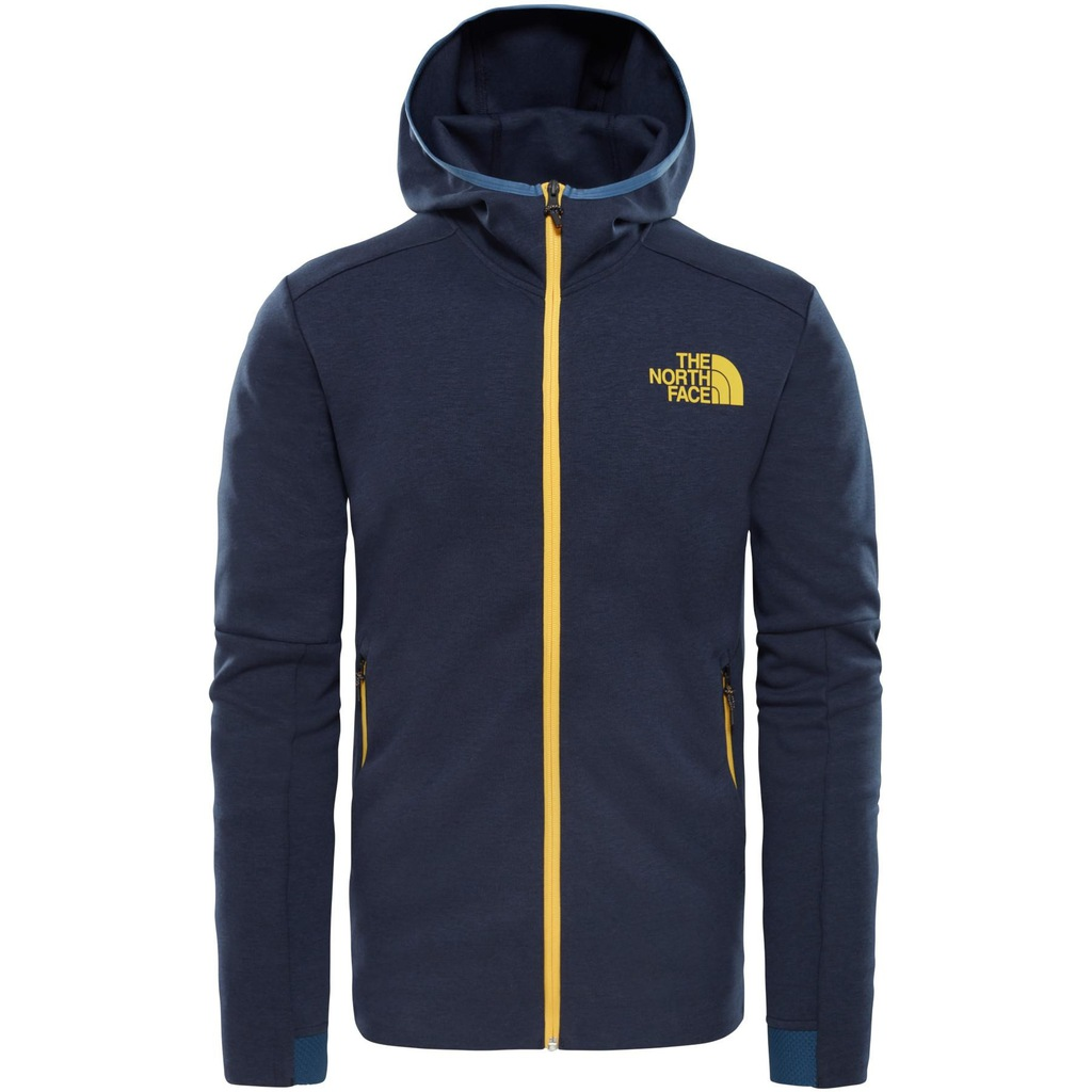 bluza the north face kolor granatowy rozpinany