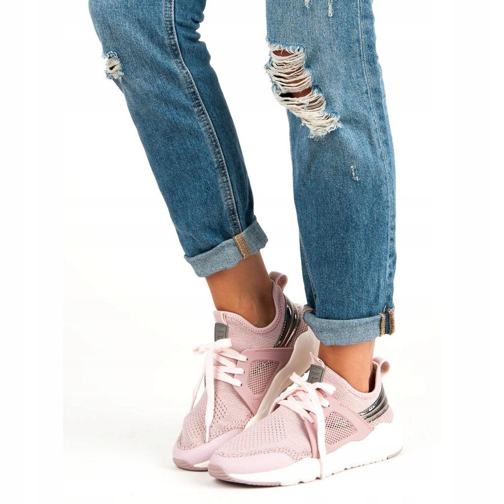 Różowe Tekstylne Buty Damskie Sportowe Fila r.36