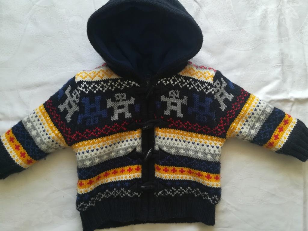 Gruby sweter na polarze Little Rebel 9-12 mies.