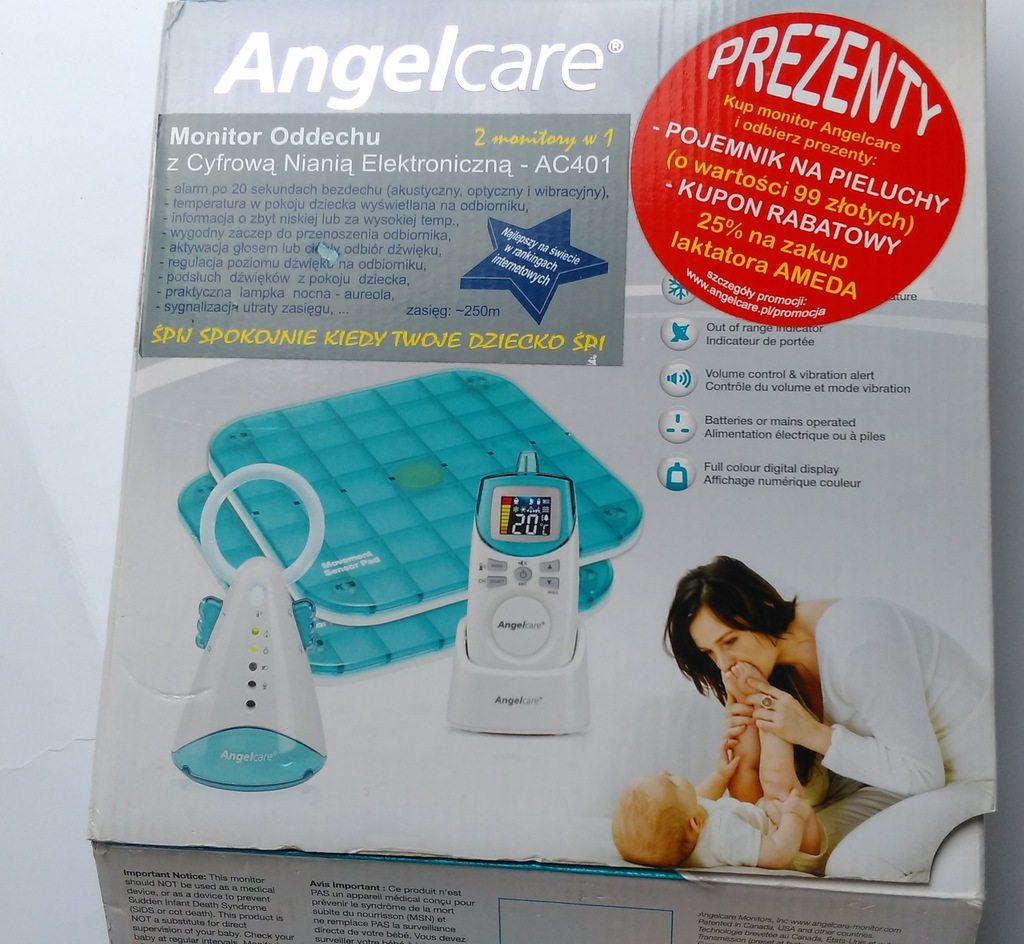 Angelcare Mata Monitor Oddechu Do Niani 7011465895 Oficjalne Archiwum Allegro