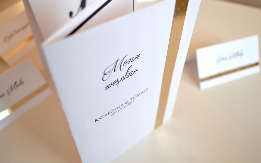 ORO   Menu weselne ślubne - Ręcznie robione