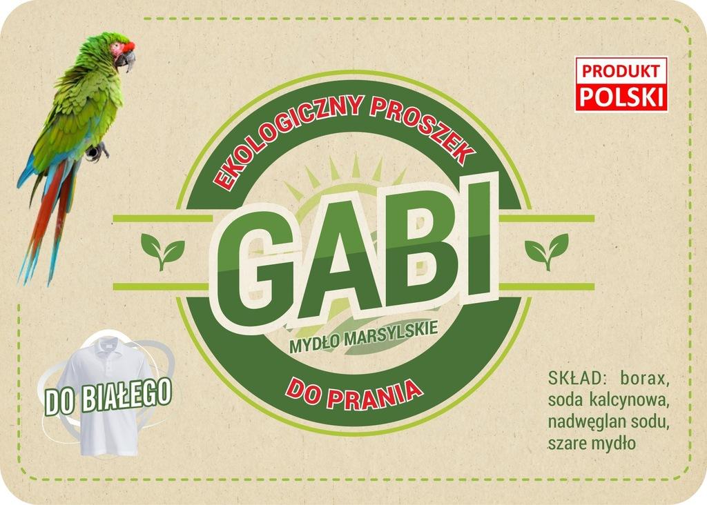 Eko proszek do prania'GABI' do białego 3kg(wiadro)
