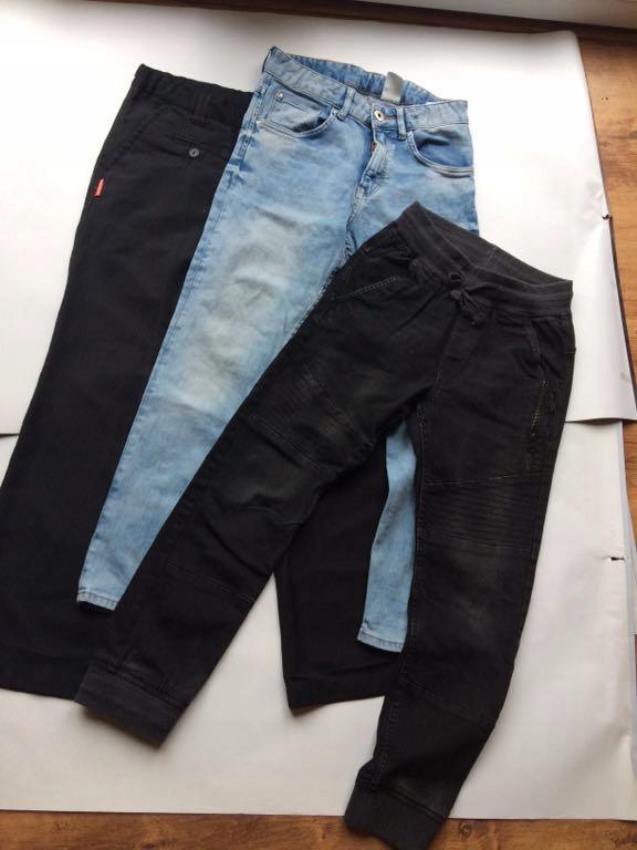 Spodnie chlopiece H&M RESERVED 146