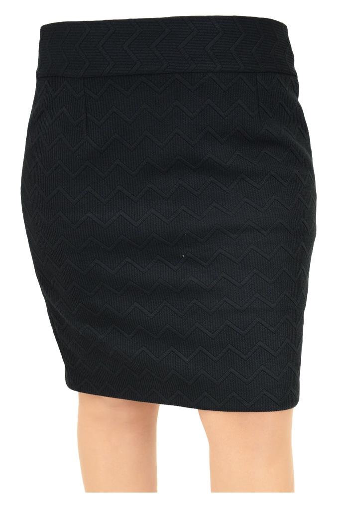 Spódnica OLGA ołówkowa ciepła dzianina czarna 48