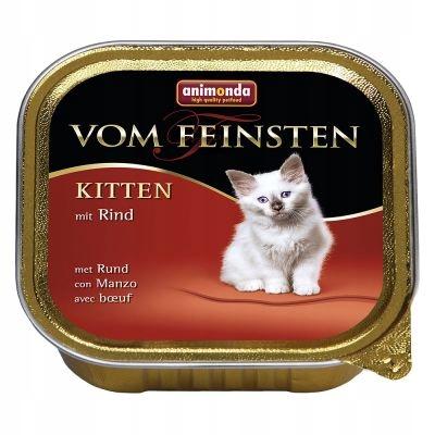 Animonda vom Feinsten Kitten 100g szalka Wołowina