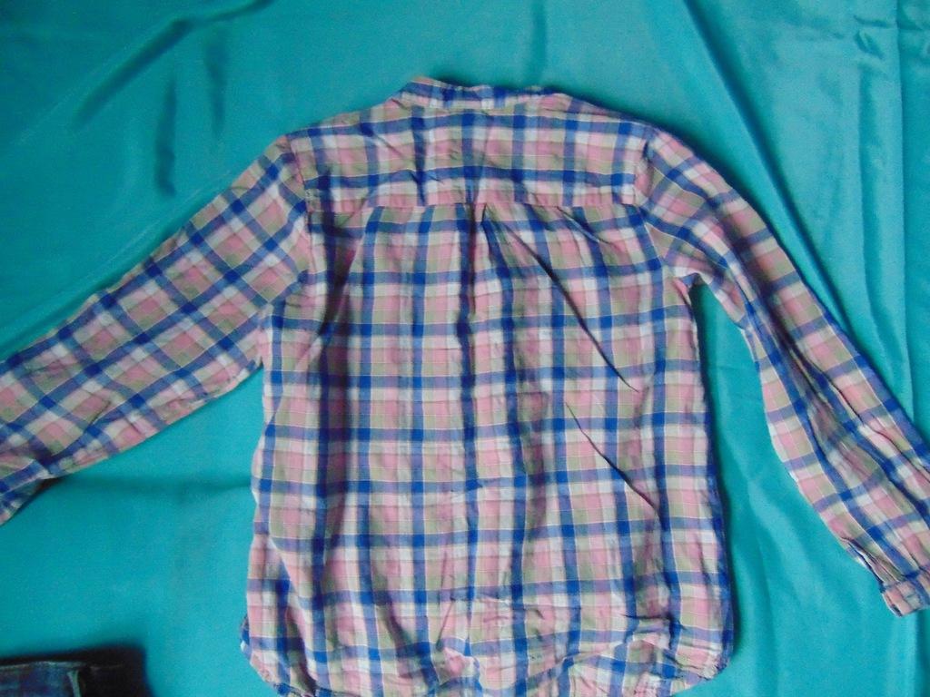 Spódniczki jeansowe + koszula w kratkę r. 120 7720357132  fTkUc