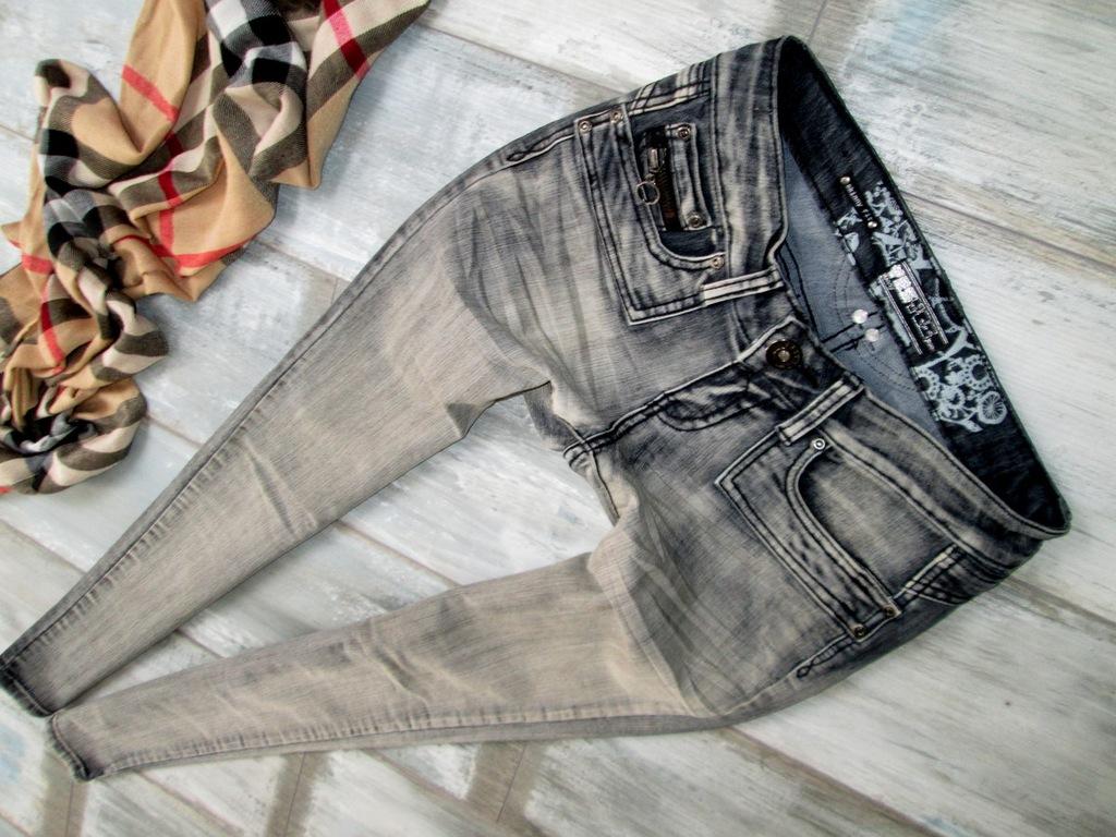 NEW LOOK zara rurki jeans rozciągliwe spodnie 36 S
